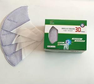Khẩu Trang 3D  Hello Mask - Japan (Hộp 50 cái - Màu Caro Tím)